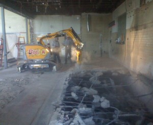 Concrete breaking big k tulsa oklahoma for Best way to get oil out of concrete