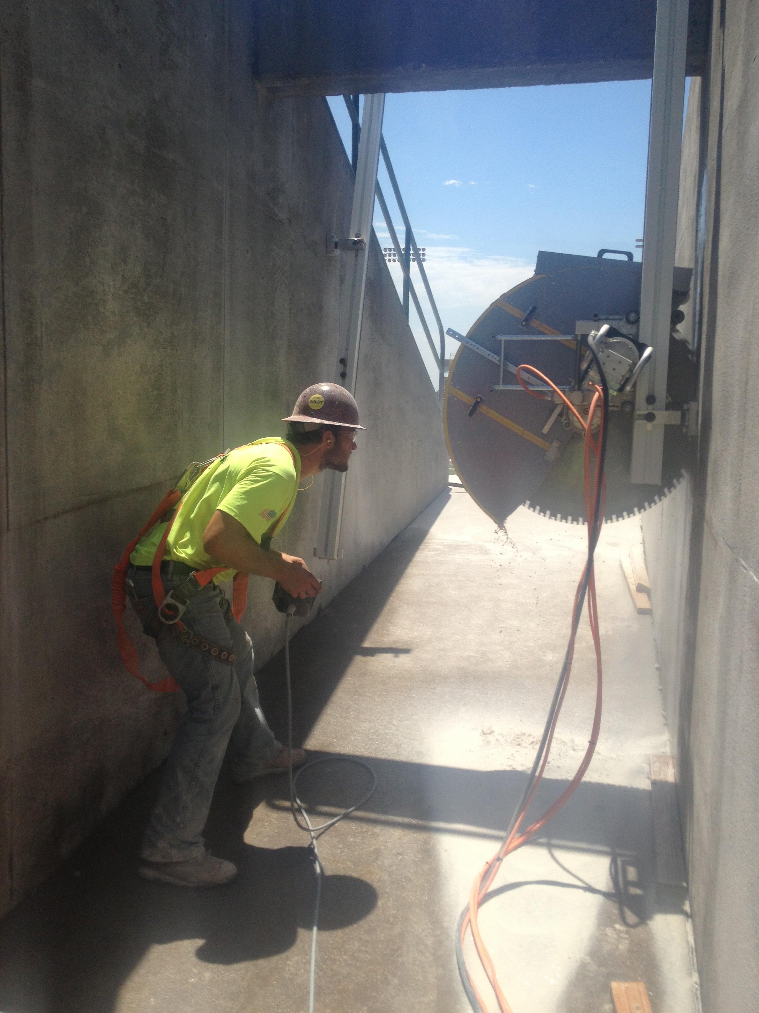 Wall Mount Concrete Saw : Do you need wallsawing big k tulsa oklahoma